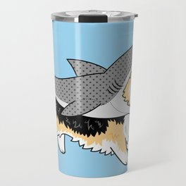 Another Corgi in a Shark Suit Travel Mug