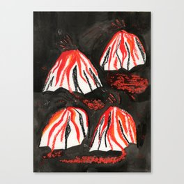 Volcanoes at Night Canvas Print