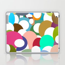 Holes in colored circles Laptop & iPad Skin