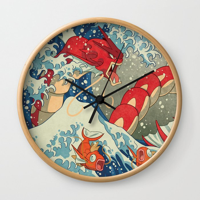 The Great Red Wave Wall Clock