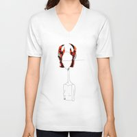 cancer V-neck T-shirts featuring Cancer by Amee Cherie Piek