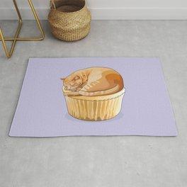 Orange Tabby Cat Cupcake Rug