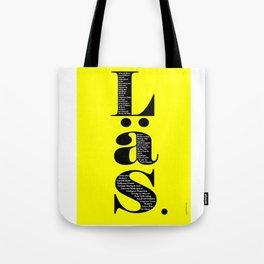 Läs - gul Tote Bag
