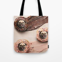 Pugs Succulent Donuts Tote Bag