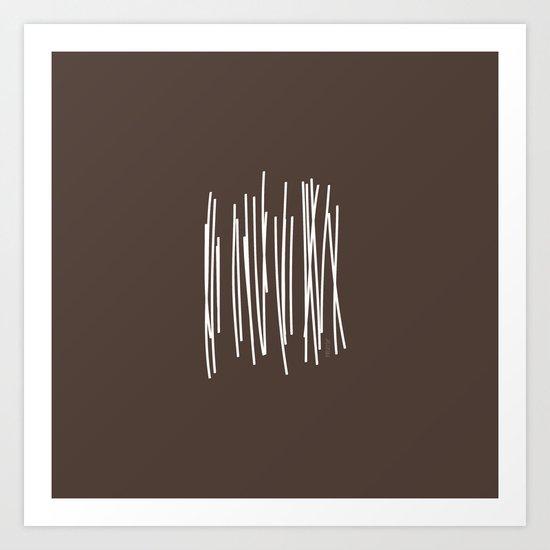 Wood in Brown - Minimalist Feng Shui - by Friztin Art Print