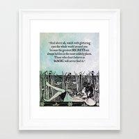 roald dahl Framed Art Prints featuring Roald Dahl - Watch with glittering eyes... by pithyPENNY