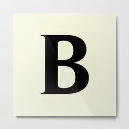 B MONOGRAM (BLACK & BEIGE) Metal Print