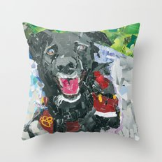 Vincent The Collie Throw Pillow