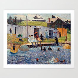 Pierre-Auguste Renoir - The Bathing Hour, Chester, Nova Scotia Art Print