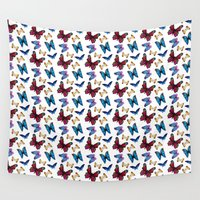 butterflies Wall Tapestries featuring Butterflies by Katerina Izotova Art Lab