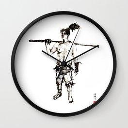 Yagyu Mitsuyoshi Legendary Samurai  Wall Clock