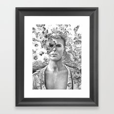 Bowie Goodbye For now Framed Art Print
