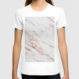 Lenola - minimalist rose gold gleam marble T-shirt