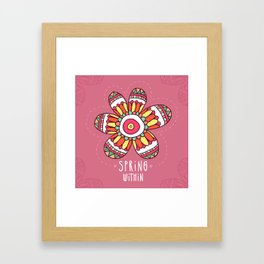 Spring Flower Framed Art Print