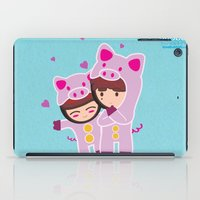 suits iPad Cases featuring Piggy-Suits by I love Bubbah
