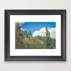 Lake Tahoe Mountains Framed Art Print