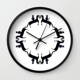 Old horse love Wall Clock