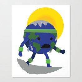 Sweating Earth Canvas Print
