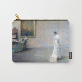 The White Dress by Thomas Wilmer Dewing - Victorian Belle Époque Retro Vintage Fine Art Carry-All Pouch
