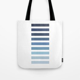 Sky and Water Blue Palette Tote Bag