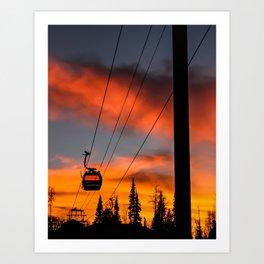 Paint the Sky Orange Art Print