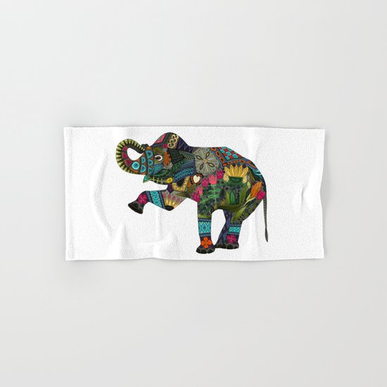 asian elephant white Hand & Bath Towel