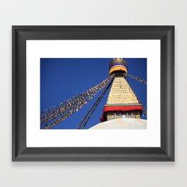 Bodnath stupa Framed Art Print