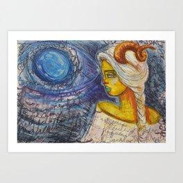 New moon in capricorn Art Print