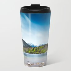 Lake Bohinj with Alps in Slovenia Metal Travel Mug