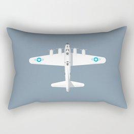B-17 WWII Bomber - Slate Rectangular Pillow