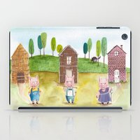 pigs iPad Cases featuring The Pigs by Eleanor McComb