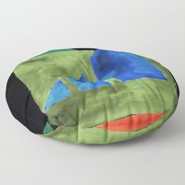 180818 Inverted Geometrical Watercolour 2| Colorful Abstract | Modern Watercolor Art Floor Pillow