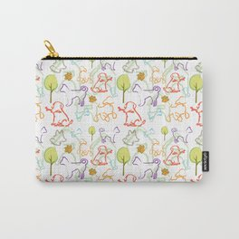 Dogs Pattern. Dog Lover. Animal. Dogs Dogs Dogs. Coloured Dogs Carry-All Pouch