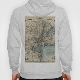 Map of New York 1891 Hoody