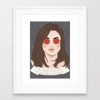 allison argent Framed Art Prints featuring Allison Argent by gentlederek