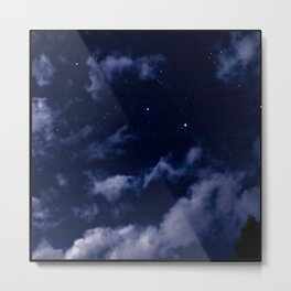 BLUE NIGHT SKY Metal Print