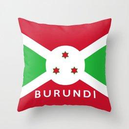 Burundi country flag name text Throw Pillow