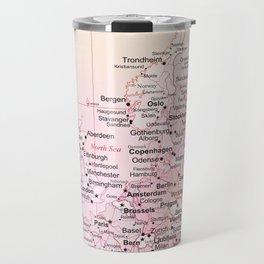 Rose Word Map Europe Travel Mug