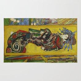 1887-Vincent van Gogh-Courtesan, after Eisen-60 x 105 Rug