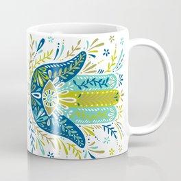 Hamsa Hand – Lime, Turquoise & Navy Palette Coffee Mug