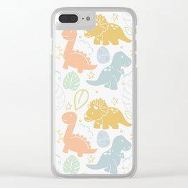 Dino Fun Clear iPhone Case