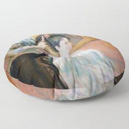 Berthe Morisot - The Hairdressing, La Coiffure - Digital Remastered Edition Floor Pillow