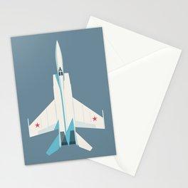 MiG-25 Foxbat Interceptor Jet Aircraft - Slate Stationery Cards