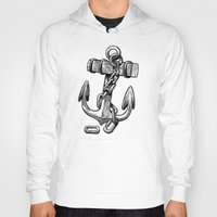 anchor Hoodies featuring Anchor by pakowacz