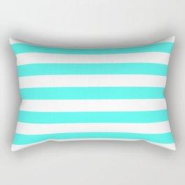 South Beach Art Deco Aqua Horizontal Tent Stripes Florida Colors of the Sunshine State Rectangular Pillow