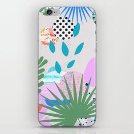 ABSTRACT TROPICAL JUNGLE PATTERN CLASHING iPhone Skin