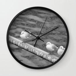bird in group Wall Clock