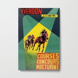 Yverdon Vintage Travel Poster Metal Print