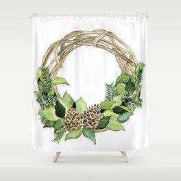 Winter Greens Shower Curtain