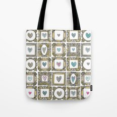 love heart frames Tote Bag